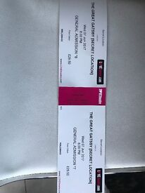 Tickets for The Great Gatsby, London