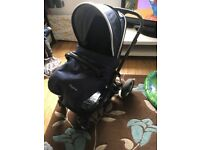Oyster 2 buggy with accessories hood rain cover and footmuff