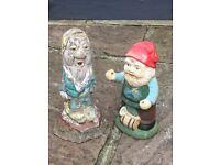 """Original Disney """"Dwarf"""" & Garden Gnome - £10"""
