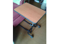 Portable-Over Bed or Chair Adjustible Table.