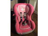 Disney princess car seat - birth to 18kg