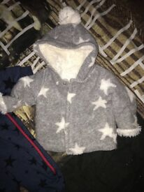 Baby coats x 2 size 3-6 months