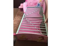 Disney princess toddler bed with side table/chair