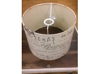 Vintage inspired lamp shade with french text