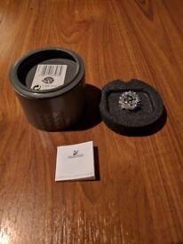 Swarovski Crystal Small Hedgehog Metal Whiskers 183273. Box, Certificate