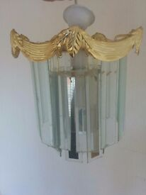 Ceiling light - glass and gold