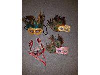 Party Masks. Mardi Gras, Carnival, fancy dress