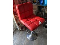 Red leather bar stool - free