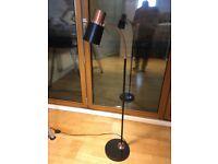 Metal LED Floor Lamp, Copper Effect