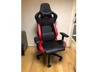 CORSAIR T1 RACE Gaming Chair — Black/Red