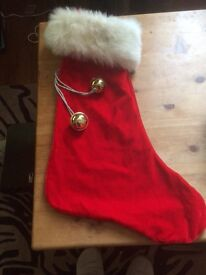 Xmas stocking red velvet
