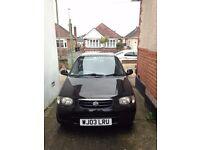 Suzuki Alto 2003, 1061cc,MOT Feb18, under 35k miles, £30PA Tax, Black 5 Door, good condition.