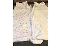 0-6 months sleeping bags x 2