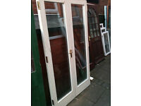 Exterior double doors with double glazed glass