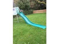 TP Climbing Frame and slide with jungle run.