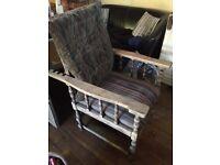 Antique Morris recliner chair