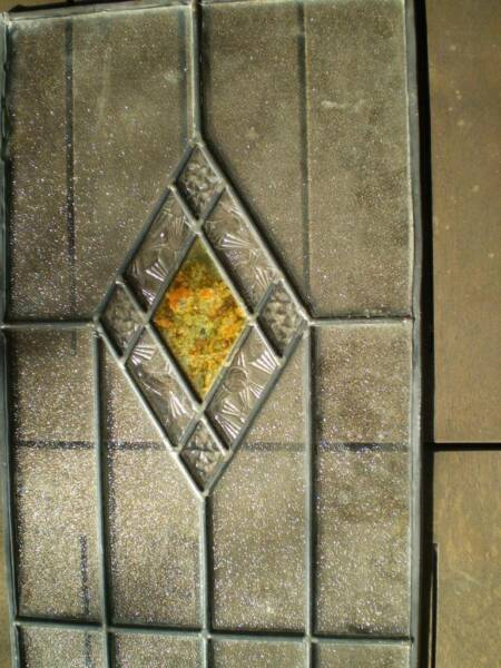 Art deco leadlight panel different textured glass old school lead ...