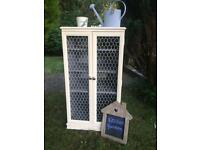 Large kitchen wire door herb cupboard with accessories... can deliver