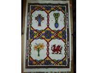 Welsh Tea Towel : Gift : Celtic Dragon Daffodil