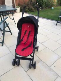 Joie buggy with rain wear