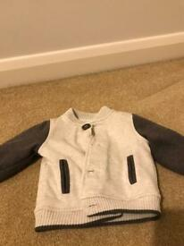 Baby fleece lined jacket 0-3 months old