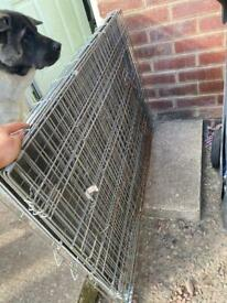 XL dog crate with cover