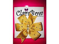 ClaraBow Gold Bow with Diamanté Detailing