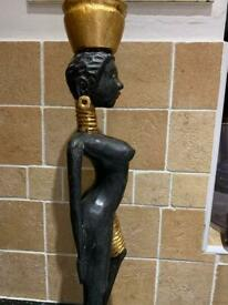 African Tribe Figure ~ Black & Gold African