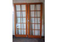 2 x 10 panel glazed doors