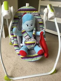 Babylo Rock-a-Bye baby swing / rocker (battery-powered) - VG condition; less than 1 year old.