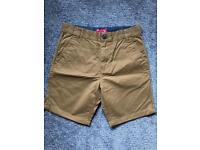 Next chino shorts cream - used once - age 13