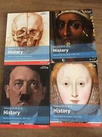 Set of 4 Edexcel History GCSE 9-1 textbooks.