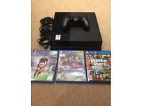 Pre-owned 500gb PlayStation 4 with 3 games