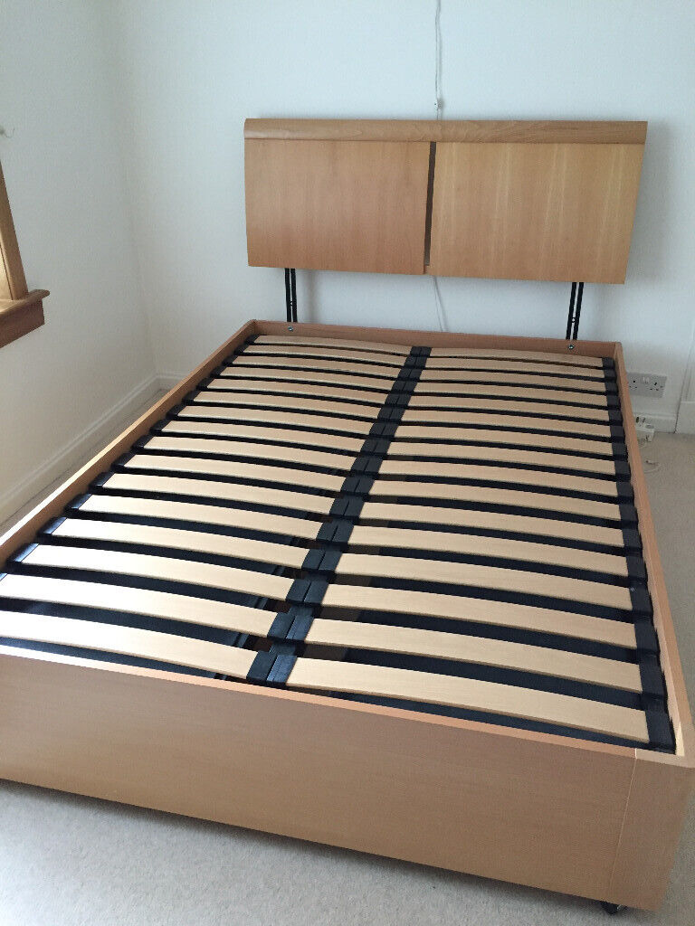 Double Size Box Bed Wooden Oak Effect With 6 Drawers Head Board And Sealy Mattress In Barnton Edinburgh Gumtree