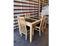 Oak Dining Table and 4 Chairs (Delivery available)