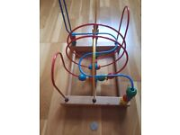 Child's Coloured Bead Wooden Maze Toy £5.00
