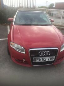 A4 convertible with b7 front end spares or repair starts and runs but has issues cuts out