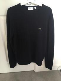 Men's Lacoste Wool Sweater/Jumper in Navy. Small
