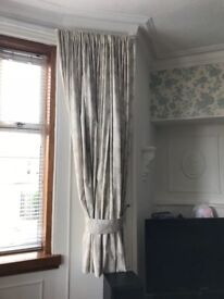 Pair of dunelm made to measure lined curtains