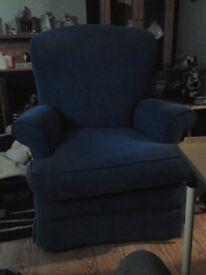 Blue Cloth Armchair