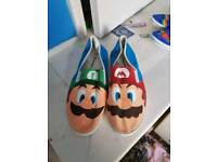 Mario and Luigi size 10 trainers