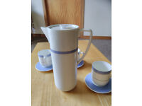 Wedgwood coffee pot and cups