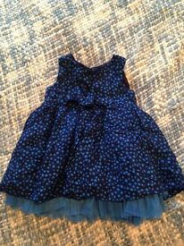 M&S 0-3month party dress