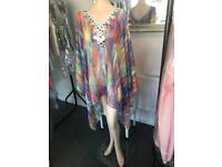 Couture kaftan cover up poncho