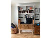 Custom made bookshelf with nit