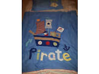 Boys Next Pirate Bedding Set with lampshade, clock ....extras