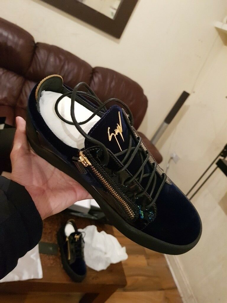 f51029b49f27f Giuseppe Zanotti May Velvet Mens Trainers GENUINE RECEIPTS | in ...