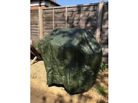 BBQ rain-cover comes with free gas BBQ (2 burner)
