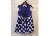 Autograph blue polka dot party dress