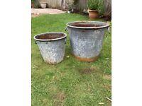 Metal Garden Pots